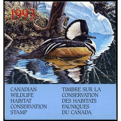 canadian wildlife habitat conservation stamp fwh9 merganser 8 50 1993