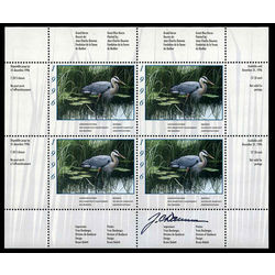 quebec wildlife habitat conservation stamp qw9e great blue heron by jean charles daumas 1996