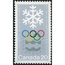 canada stamp 689 snowlake and olympic symbols 20 1976