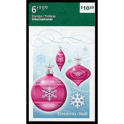 canada stamp booklets bk bk438 christmas ornaments 2010