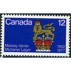 canada stamp 735 governor general s standard 12 1977