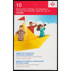canada stamp complete booklets bk bk603 canada post community foundation 2014