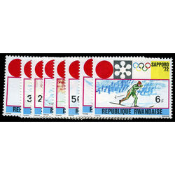 rwanda stamp 436 43 winter olympic games 1972