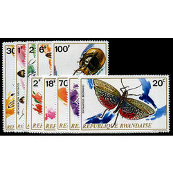rwanda stamp 495 504 various insects 1972