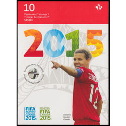 canada stamp complete booklets bk bk621 fifa women s world cup canada 2015 2015