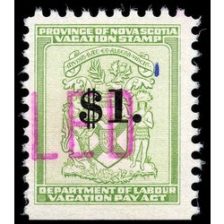 canada revenue stamp nsv6 vacation pay 1 1958