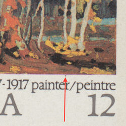 canada stamp 734i autumn birches 12 1977
