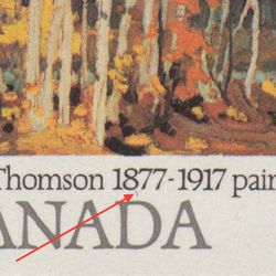 canada stamp 734ii autumn birches 12 1977