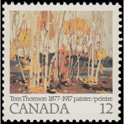 canada stamp 734 autumn birches 12 1977