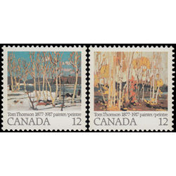canada stamp 733 4 tom thomson 1977