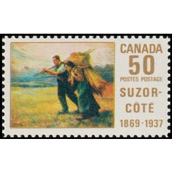 canada stamp 492 return from the harvest field 50 1969