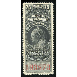 canada revenue stamp fwm40 victoria weights and measures 75 1897