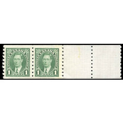 canada stamp 238pa king george vi 1937 m vfnh end pair 2 tabs