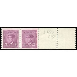 canada stamp 280pa king george vi 1948 m vfnh end pair 2 tabs