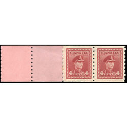 canada stamp 267pa king george vi 1943 m vgnh start 2 tabs