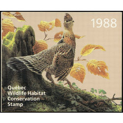 quebec wildlife habitat conservation stamp qw1 ruffed grouse by jean luc grondin 5 1988
