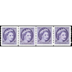canada stamp 347 strip queen elizabeth ii 1954