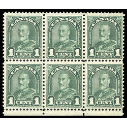 canada stamp 163ii block king george v 1 1930