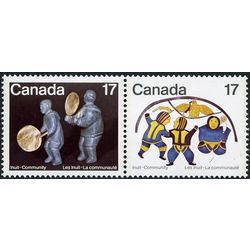 canada stamp 838a inuit shelter and community 1979