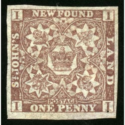 newfoundland stamp 15a 1861 third pence issue 1d 1861