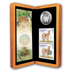 white tailed deer stamp coin set