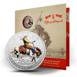 calgary stampede stamp and coin set