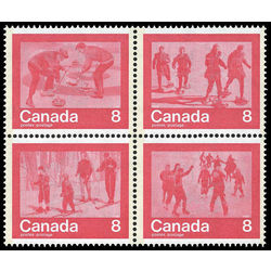 Canada stamp 647ai keep fit winter sports 1974