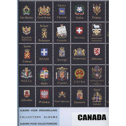 blank pages for the davo canada stamp album