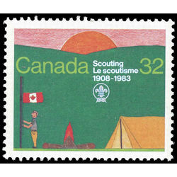 canada stamp 993ii scout encampment 32 1983
