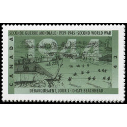 canada stamp 1537i d day beachhead 43 1994