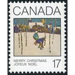Canada stamp 871 sleigh ride 17 1980