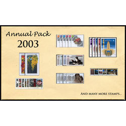 Canada complete year set 2003 mint