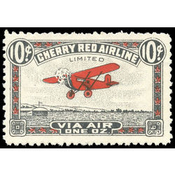canada stamp c air mail cl46iii cherry red airline ltd 10 1929