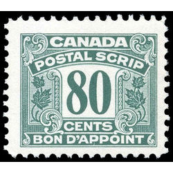 canada revenue stamp fps39 postal scrip second issue 80 1967