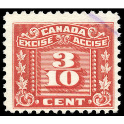 canada revenue stamp fx58 three leaf excise tax 3 10 1934