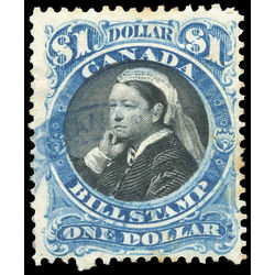 canada revenue stamp fb52 third bill issue 1 1868