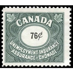 canada revenue stamp fu75 unemployment insurance stamps 76 1960