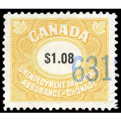 canada revenue stamp fu77 unemployment insurance stamps 1 08 1960