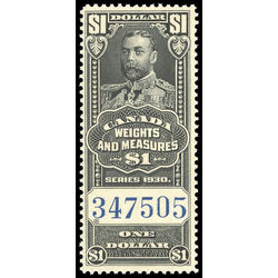 canada revenue stamp fwm67 george v weights and measures 1 1930
