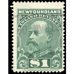 canada revenue stamp nfr12 king edward vii 1 1907