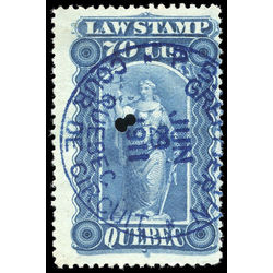 canada revenue stamp ql39 law stamps 70 1893