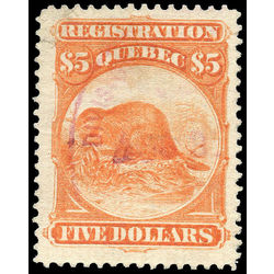 canada revenue stamp qr15 beavers 5 1870