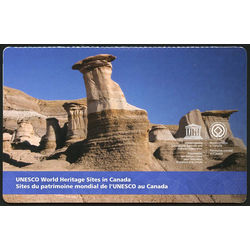 canada stamp complete booklets bk bk623 unesco error world heritage sites in canada 2015