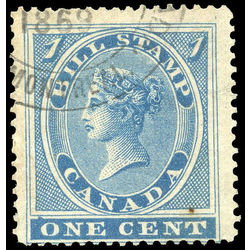 canada revenue stamp fb1 first bill issue 1 1864