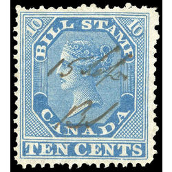 canada revenue stamp fb10 first bill issue 10 1864