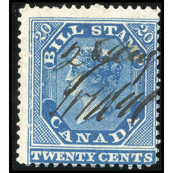 canada revenue stamp fb11 first bill issue 20 1864