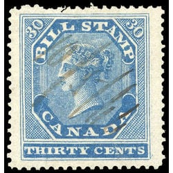 canada revenue stamp fb12 first bill issue 30 1864