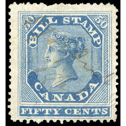 canada revenue stamp fb14 first bill issue 50 1864