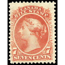 canada revenue stamp fb24 second bill issue 7 1865