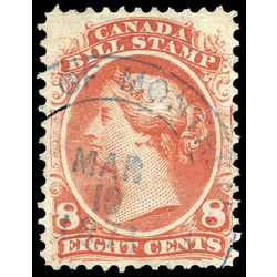 canada revenue stamp fb25 second bill issue 8 1865
